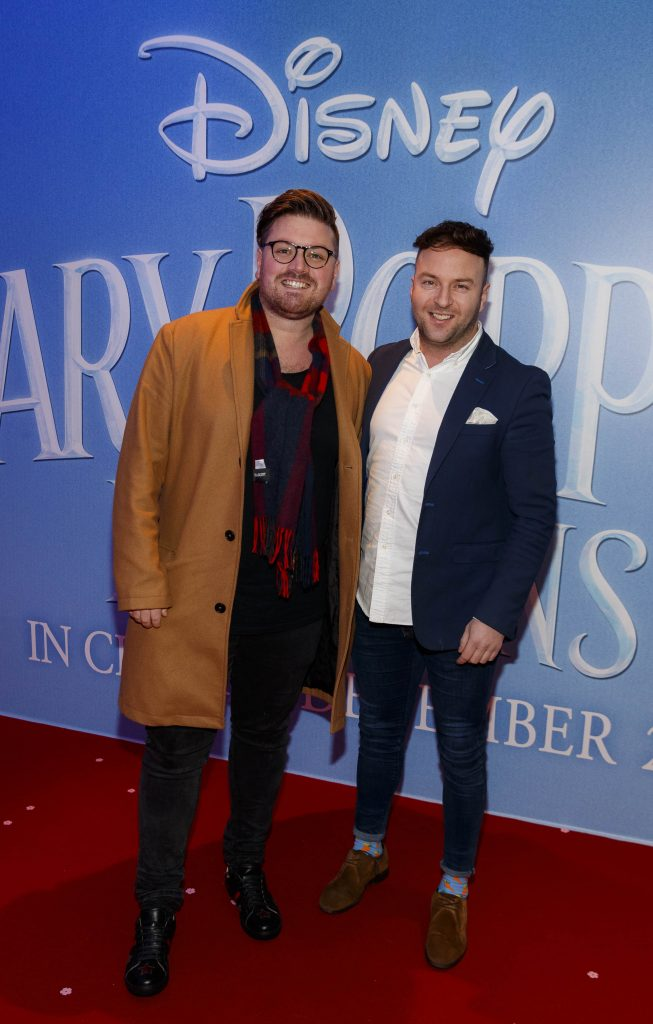 "Thomas Cross and Wayne Lawlor pictured at a special preview screening of Disney's ""Mary Poppins Returns,"" in the Light House cinema Dublin. Picture Andres Poveda"