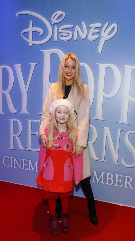 "Kerri Nicole Blanc and daughter Kayla pictured at a special preview screening of Disney's ""Mary Poppins Returns,"" in the Light House cinema Dublin. Picture Andres Poveda"