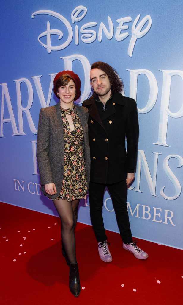 "Aoife Murray and Davey Reilly pictured at a special preview screening of Disney's ""Mary Poppins Returns,"" in the Light House cinema Dublin. Picture Andres Poveda"