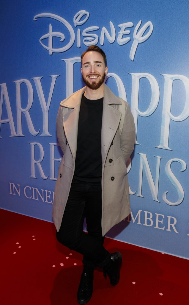 "Aidan Corcoran pictured at a special preview screening of Disney's ""Mary Poppins Returns,"" in the Light House cinema Dublin. Picture Andres Poveda"