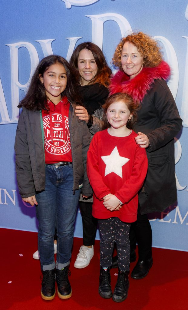 "Anne Tucker with daughter Oriel and Tracy Tucker with daughter Mable pictured at a special preview screening of Disney's ""Mary Poppins Returns,"" in the Light House cinema Dublin. Picture Andres Poveda"