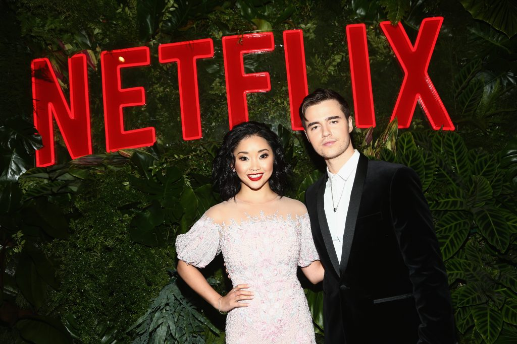 Lana Condor (L) and Anthony De La Torre attend the Netflix 2019 Golden Globes After Party on January 6, 2019 in Los Angeles, California.  (Photo by Tommaso Boddi/Getty Images for Netflix)