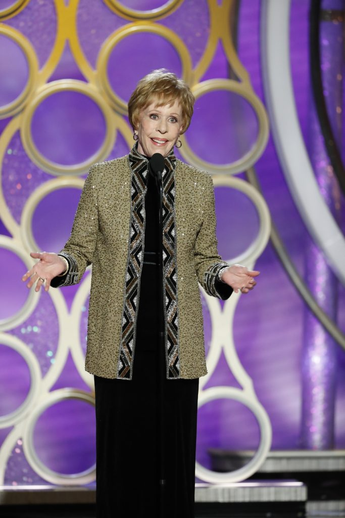 Carol Burnett accepts the Carol Burnett TV Achievement Award onstage during the 76th Annual Golden Globe Awards at The Beverly Hilton Hotel on January 06, 2019 in Beverly Hills, California.  (Photo by Paul Drinkwater/NBCUniversal via Getty Images)
