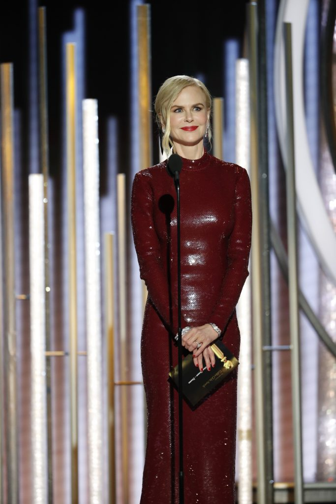 Nicole Kidman speaks onstage during the 76th Annual Golden Globe Awards at The Beverly Hilton Hotel on January 06, 2019 in Beverly Hills, California.  (Photo by Paul Drinkwater/NBCUniversal via Getty Images)