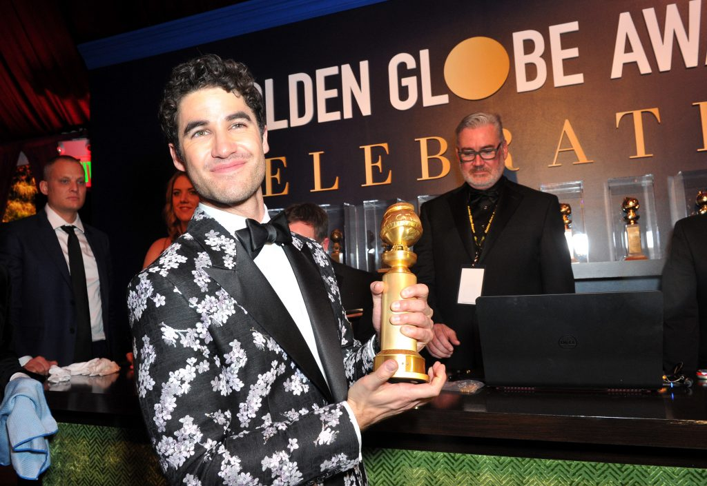 Best Performance by an Actor in a Limited Series or Motion Picture Made for Television for 'The Assassination of Gianni Versace' winner Darren Criss attends the official viewing and after party of The Golden Globe Awards hosted by The Hollywood Foreign Press Association at The Beverly Hilton Hotel on January 6, 2019 in Beverly Hills, California.  (Photo by Rachel Luna/Getty Images)