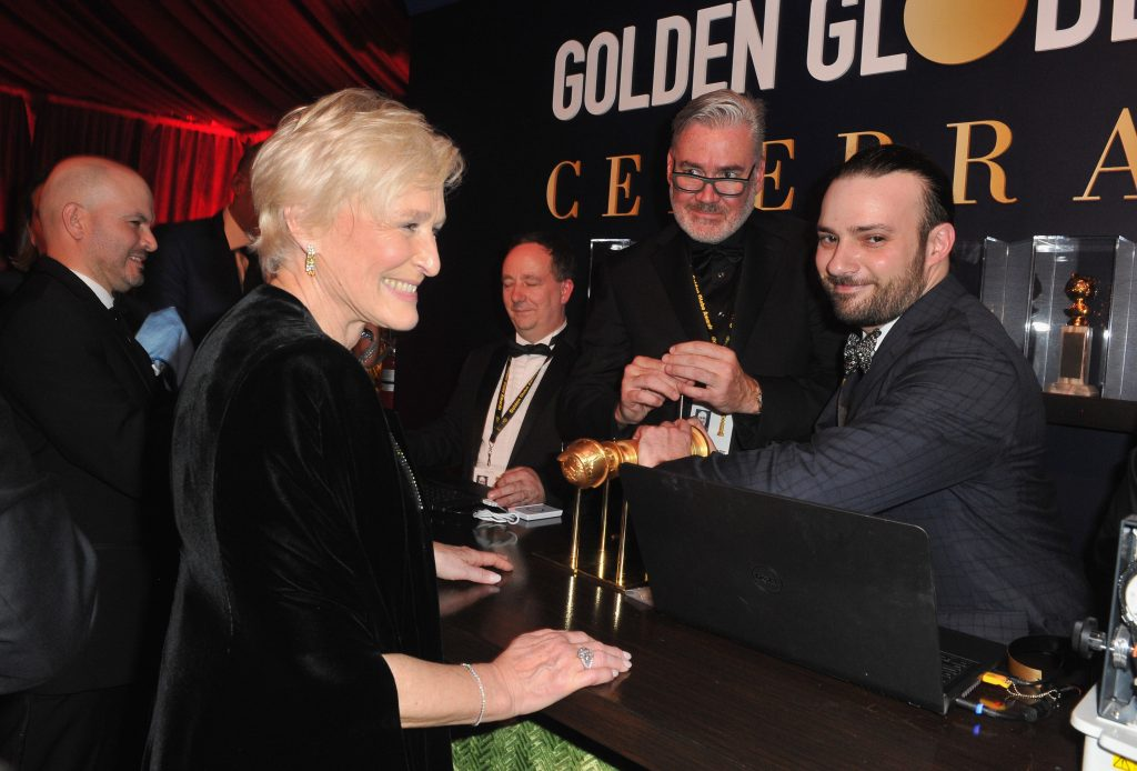 Glenn Close, winner of Best Performance by an Actress in a Motion Picture - Drama for 'The Wife,' attends the official viewing and after party of The Golden Globe Awards hosted by The Hollywood Foreign Press Association at The Beverly Hilton Hotel on January 6, 2019 in Beverly Hills, California.  (Photo by Rachel Luna/Getty Images)