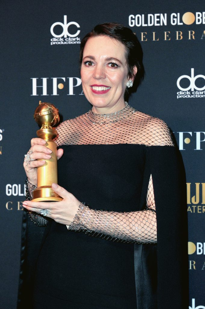Olivia Colman attends the official viewing and after party of The Golden Globe Awards hosted by The Hollywood Foreign Press Association at The Beverly Hilton Hotel on January 6, 2019 in Beverly Hills, California.  (Photo by Rachel Luna/Getty Images)