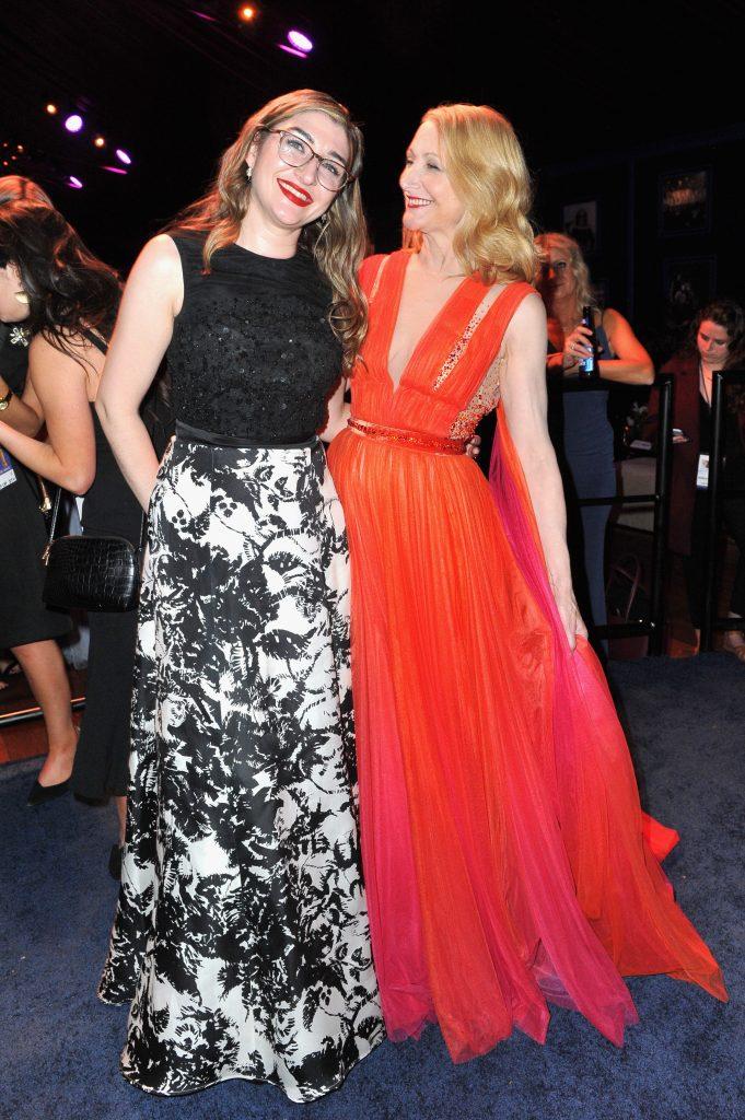 Katie Feldman (L) and Patricia Clarkson attend the official viewing and after party of The Golden Globe Awards hosted by The Hollywood Foreign Press Association at The Beverly Hilton Hotel on January 6, 2019 in Beverly Hills, California.  (Photo by Rachel Luna/Getty Images)