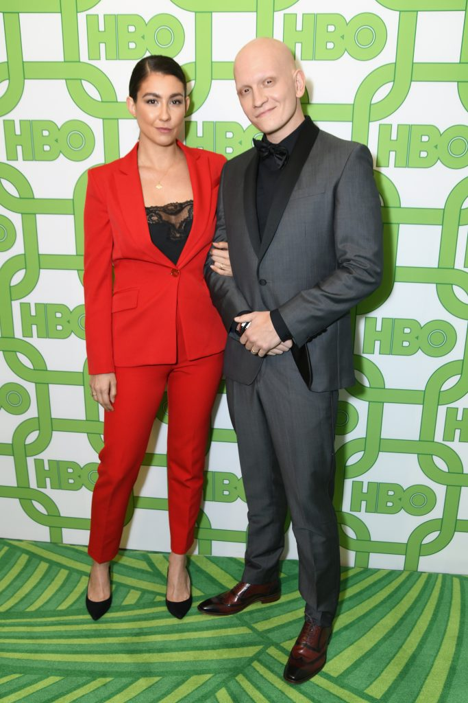 Gia Olimp (L) and Anthony Carrigan attend HBO's Official Golden Globe Awards After Party at Circa 55 Restaurant on January 6, 2019 in Los Angeles, California.  (Photo by Presley Ann/Getty Images)