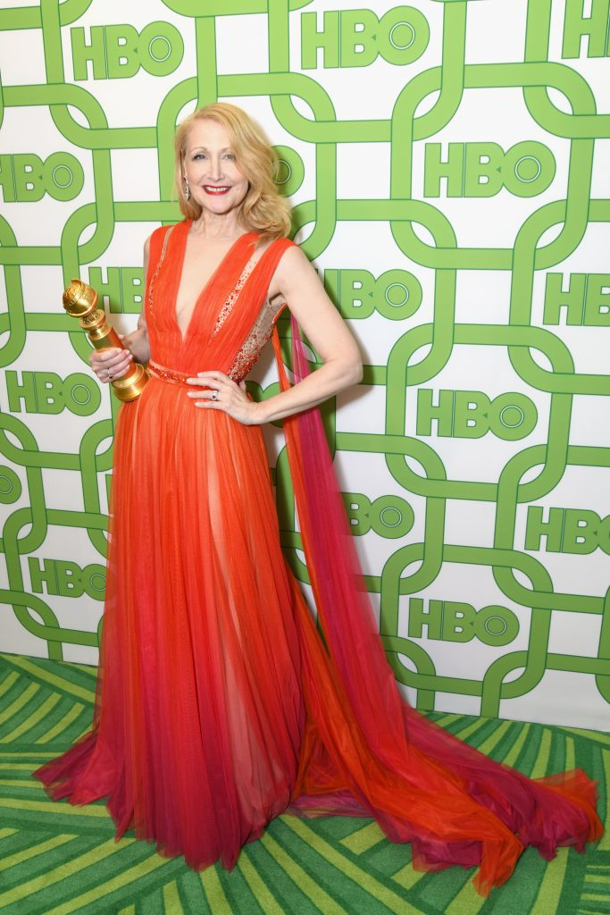 Patricia Clarkson, winner of Best Performance by an Actress in a Supporting Role in a Series, Limited Series or Motion Picture Made for Television for 'Sharp Objects,' attends HBO's Official Golden Globe Awards After Party at Circa 55 Restaurant on January 6, 2019 in Los Angeles, California.  (Photo by Presley Ann/Getty Images)