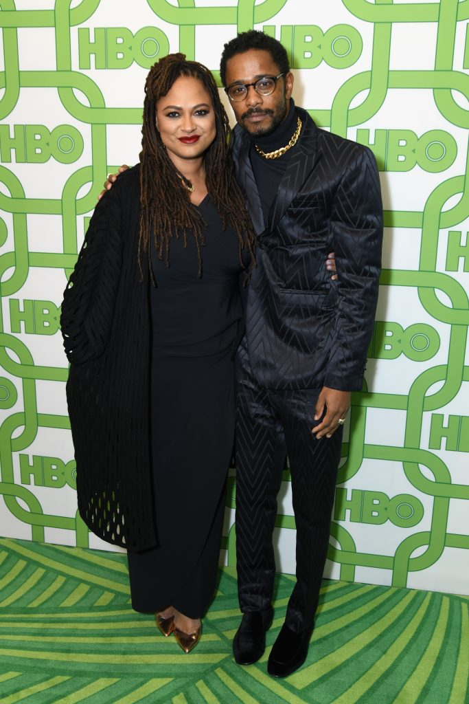 Ava DuVernay and Lakeith Stanfield attend HBO's Official Golden Globe Awards After Party at Circa 55 Restaurant on January 6, 2019 in Los Angeles, California.  (Photo by Presley Ann/Getty Images)