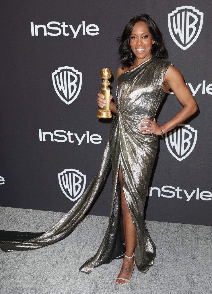 Regina King winner of the Best Actress in a Supporting Role in any Motion Picture 'If Beale Street Could Talk' award attends the InStyle And Warner Bros. Golden Globes After Party 2019 at The Beverly Hilton Hotel on January 6, 2019 in Beverly Hills, California.  (Photo by Rich Fury/Getty Images)