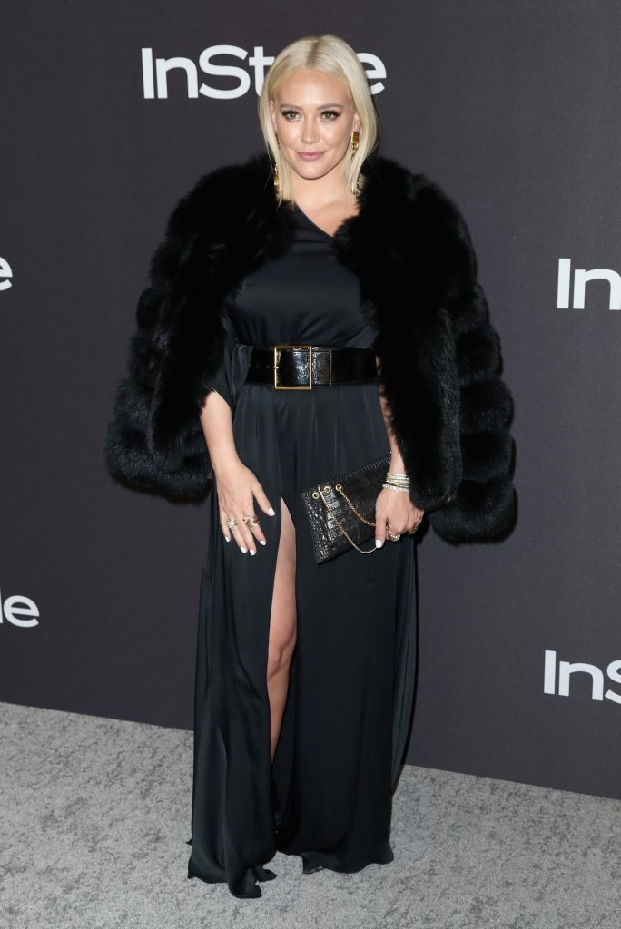 Hilary Duff attends the InStyle And Warner Bros. Golden Globes After Party 2019 at The Beverly Hilton Hotel on January 6, 2019 in Beverly Hills, California.  (Photo by Rich Fury/Getty Images)