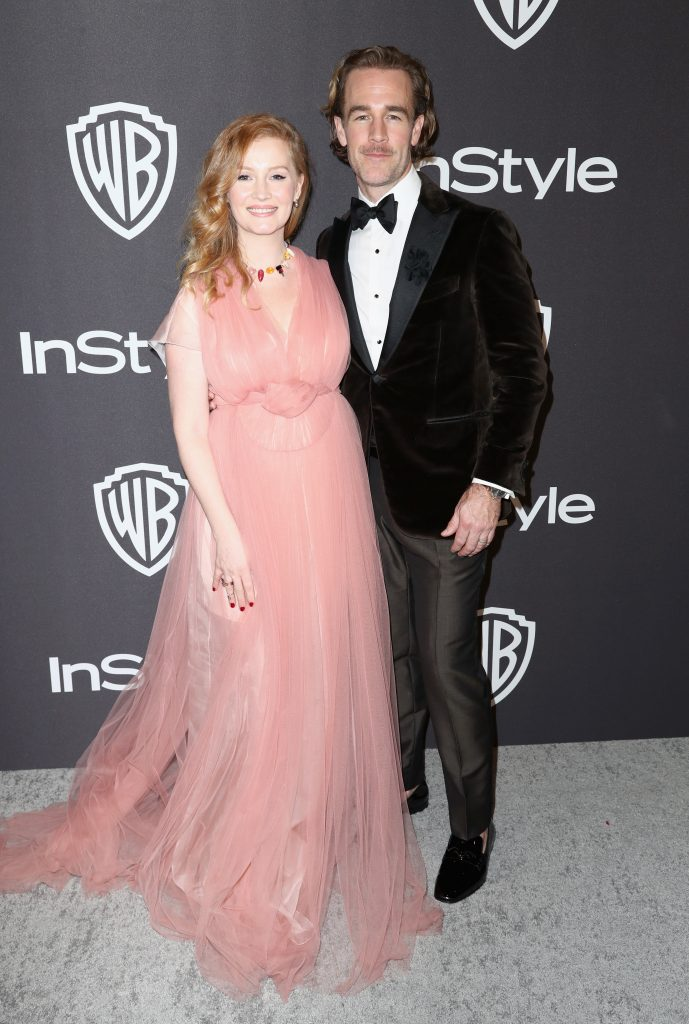 Kimberly Brook (L) and James Van Der Beek attends the InStyle And Warner Bros. Golden Globes After Party 2019 at The Beverly Hilton Hotel on January 6, 2019 in Beverly Hills, California.  (Photo by Rich Fury/Getty Images)