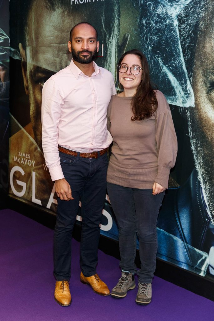 Kande Mano and Erica Soldi pictured at the special preview screening of GLASS. Picture Andres Poveda