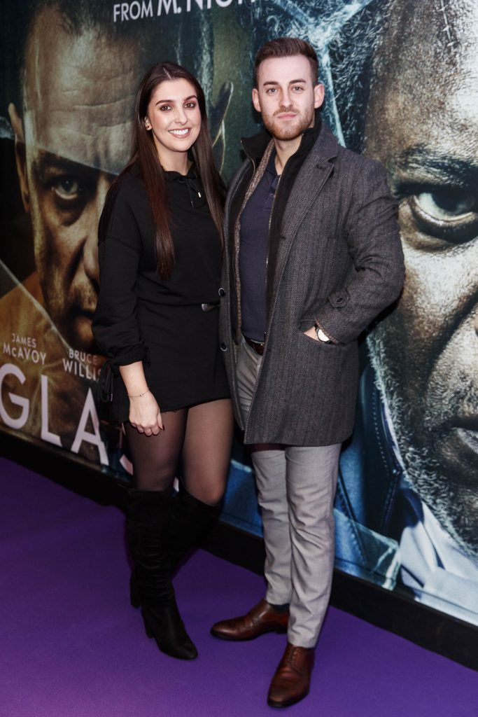 Olivia Roe and Mathew Jackson pictured at the special preview screening of GLASS. Picture Andres Poveda