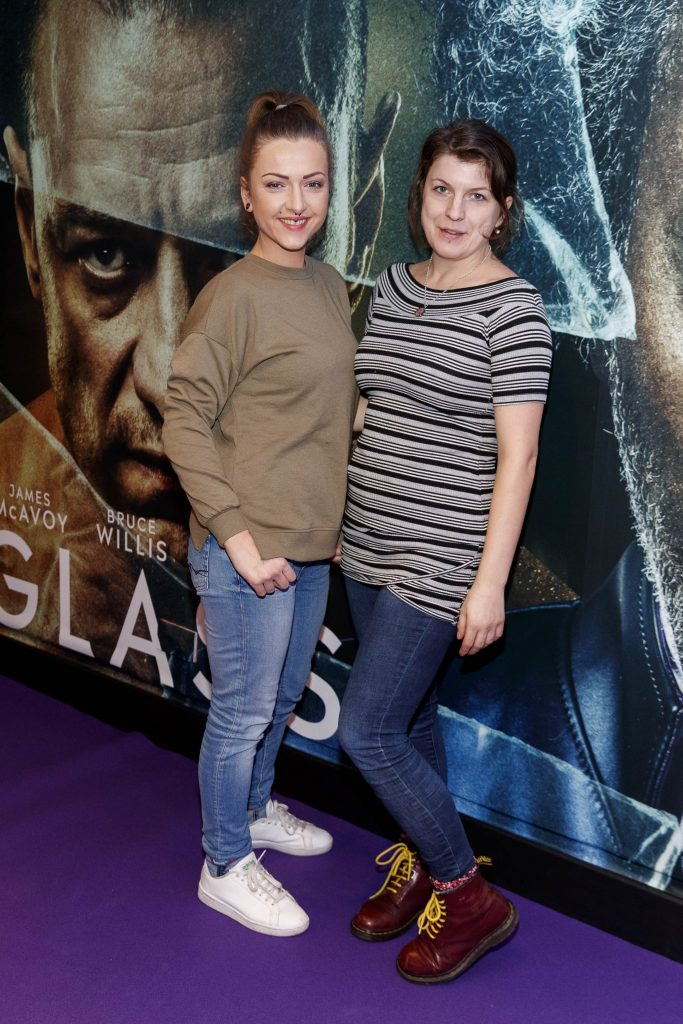 Magda Andracka and Arina Obuchova pictured at the special preview screening of GLASS. Picture Andres Poveda