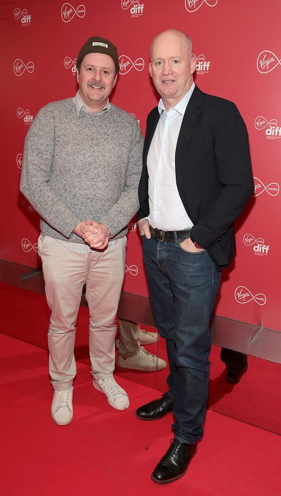 John Butler and Tony Hanway at the Virgin Media Dublin International Film Festival launch at The Lighthouse Cinema, Dublin. Photo: Brian McEvoy