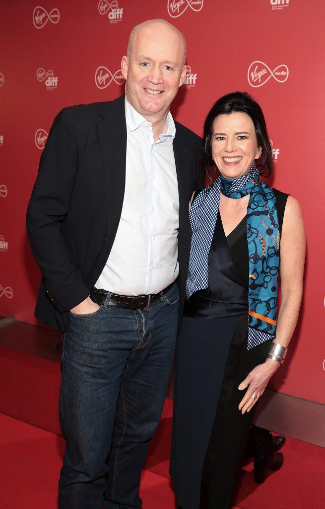 Tony Hanway and Tara o Rourke at the Virgin Media Dublin International Film Festival launch at The Lighthouse Cinema, Dublin. Photo: Brian McEvoy