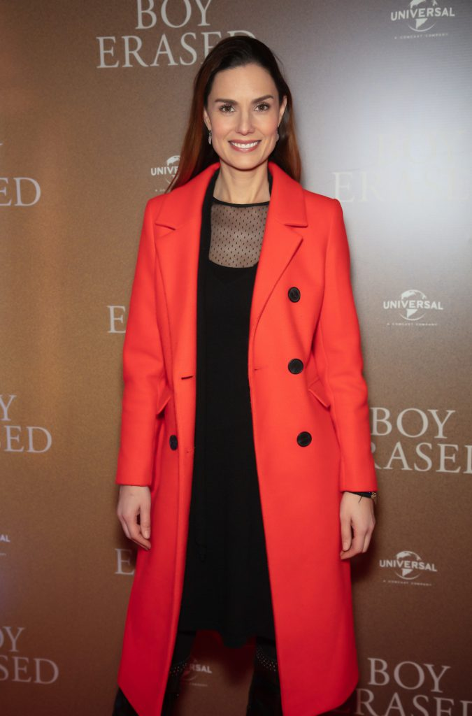 Alison Canavan pictured at an exclusive preview screening of BOY ERASED at The Stella Theatre, Ranelagh. BOY ERASED, an emotional coming-of-age and coming out drama about a young man's journey to self-acceptance, stars Academy Award nominee Lucas Hedges alongside Academy Award winners Nicole Kidman and Russell Crowe. Guests were treated to a prosecco & canapé reception upon arrival and had the pleasure of seeing the film before it hits cinemas across Ireland on February 8th. Photo: Anthony Woods