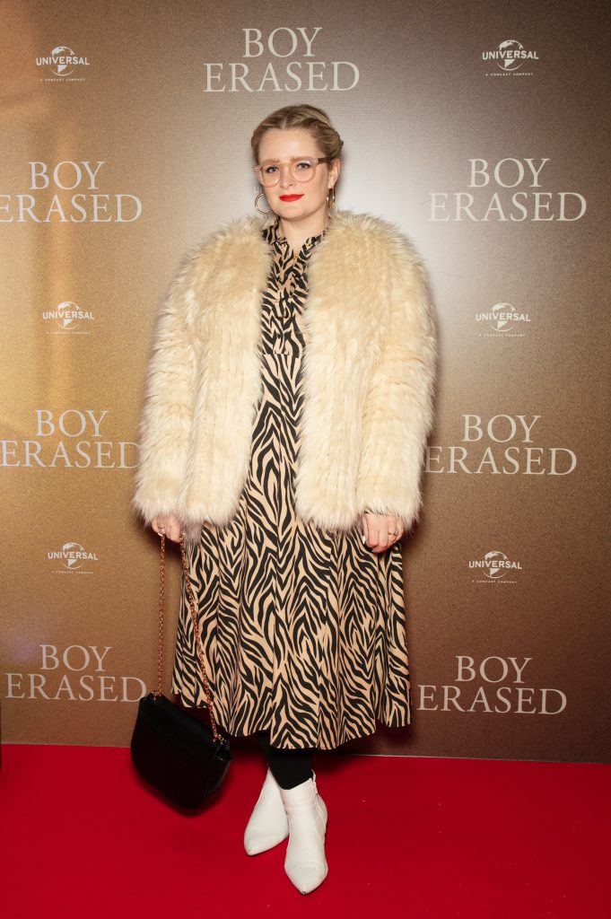 Louise McSharry pictured at an exclusive preview screening of BOY ERASED at The Stella Theatre, Ranelagh. BOY ERASED, an emotional coming-of-age and coming out drama about a young man's journey to self-acceptance, stars Academy Award nominee Lucas Hedges alongside Academy Award winners Nicole Kidman and Russell Crowe. Guests were treated to a prosecco & canapé reception upon arrival and had the pleasure of seeing the film before it hits cinemas across Ireland on February 8th. Photo: Anthony Woods