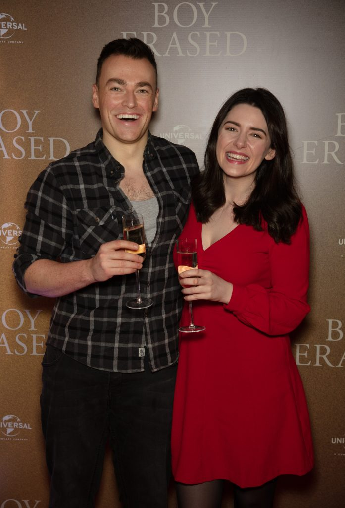 Melanie Murphy & Thomas O'Rourke pictured at an exclusive preview screening of BOY ERASED at The Stella Theatre, Ranelagh. BOY ERASED, an emotional coming-of-age and coming out drama about a young man's journey to self-acceptance, stars Academy Award nominee Lucas Hedges alongside Academy Award winners Nicole Kidman and Russell Crowe. Guests were treated to a prosecco & canapé reception upon arrival and had the pleasure of seeing the film before it hits cinemas across Ireland on February 8th. Photo: Anthony Woods