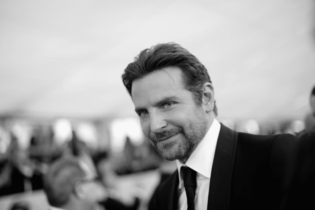 LOS ANGELES, CA - JANUARY 27:   (EDITORS NOTE: Image has been shot in black and white. Color version not available.)  Bradley Cooper attends the 25th Annual Screen ActorsGuild Awards at The Shrine Auditorium on January 27, 2019 in Los Angeles, California. 480620  (Photo by Charley Gallay/Getty Images for Turner)