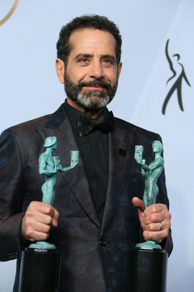 "Outstanding Performance by a Male Actor in a Comedy Series for ""The Marvelous Mrs. Maisel"" winner Tony Shalhoub poses in the press room during the 25th Annual Screen Actors Guild Awards at the Shrine Auditorium in Los Angeles on January 27, 2019. (Photo by Jean-Baptiste LACROIX / AFP)        (Photo credit should read JEAN-BAPTISTE LACROIX/AFP/Getty Images)"