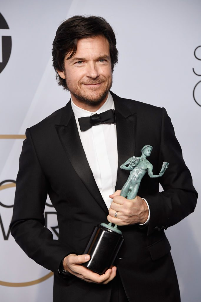 LOS ANGELES, CA - JANUARY 27:  Jason Bateman, winner of Outstanding Performance by a Male Actor in a Drama Series for 'Ozark,' poses in the press room during the 25th Annual Screen Actors Guild Awards at The Shrine Auditorium on January 27, 2019 in Los Angeles, California.  (Photo by Frazer Harrison/Getty Images)