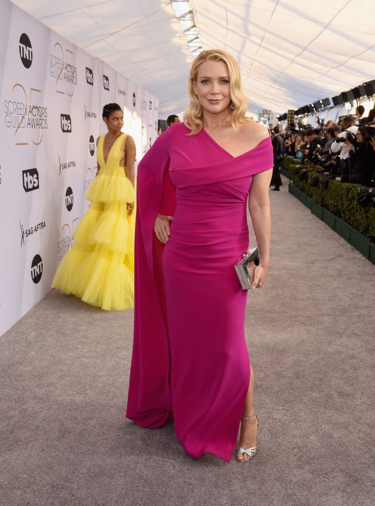 LOS ANGELES, CA - JANUARY 27:  Laurie Holden attends the 25th Annual Screen ActorsGuild Awards at The Shrine Auditorium on January 27, 2019 in Los Angeles, California.  (Photo by Presley Ann/Getty Images)