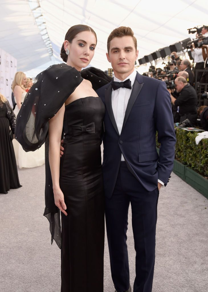 LOS ANGELES, CA - JANUARY 27:  Alison Brie and Dave Franco attend the 25th Annual Screen ActorsGuild Awards at The Shrine Auditorium on January 27, 2019 in Los Angeles, California.  (Photo by Presley Ann/Getty Images)