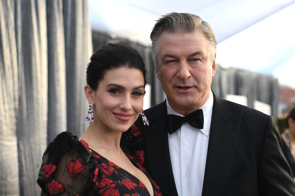 Actor Alec Baldwin (R) and wife Hilaria Baldwin walk the red carpet at the 25th Annual Screen Actors Guild Awards at the Shrine Auditorium in Los Angeles on January 27, 2019. (Photo by Robyn Beck / AFP)        (Photo credit should read ROBYN BECK/AFP/Getty Images)