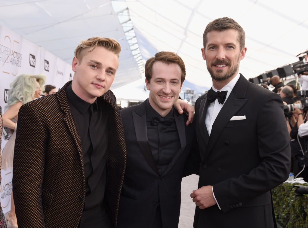 LOS ANGELES, CA - JANUARY 27:  (L-R) Ben Hardy, Joseph Mazzello, and Gwilym Lee attend the 25th Annual Screen ActorsGuild Awards at The Shrine Auditorium on January 27, 2019 in Los Angeles, California.  (Photo by Presley Ann/Getty Images)