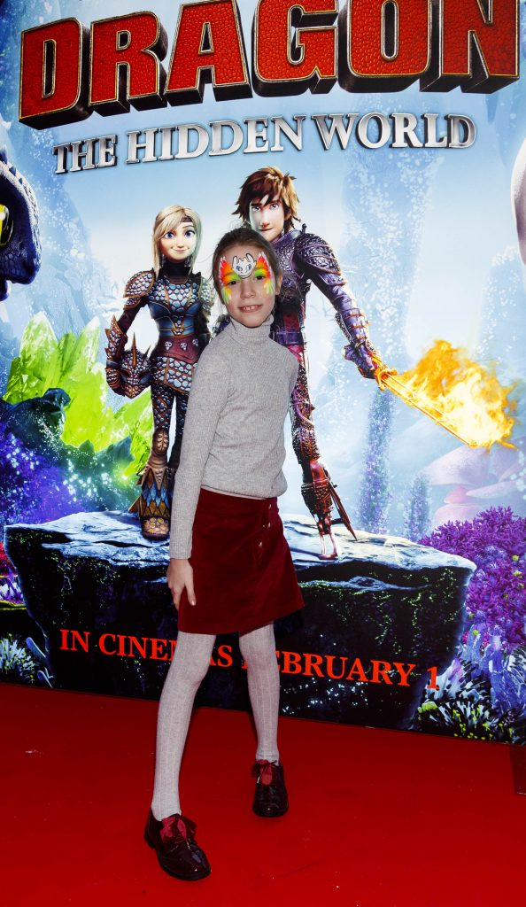 Repro Free: 27/01/2019 pictured at the Irish premiere screening of HOW TO TRAIN YOUR DRAGON: THE HIDDEN WORLD at the Light House Cinema, Dublin. Starring Kit Harrington, Cate Blanchett, America Ferrera, Jonah Hill, Kristen Wiig and Jay Baruchel, HOW TO TRAIN YOUR DRAGON : THE HIDDEN WORLD hits cinemas across Ireland from February 1st. Now chief and ruler of Berk alongside Astrid, Hiccup has created a gloriously chaotic dragon utopia.  When the sudden appearance of female Light Fury coincides with the darkest threat their village has ever faced, Hiccup and Toothless must leave the only home they've known and journey to a hidden world thought only to exist in myth.  As their true destines are revealed, dragon and rider will fight together—to the very ends of the Earth—to protect everything they've grown to treasure. Picture Andres Poveda