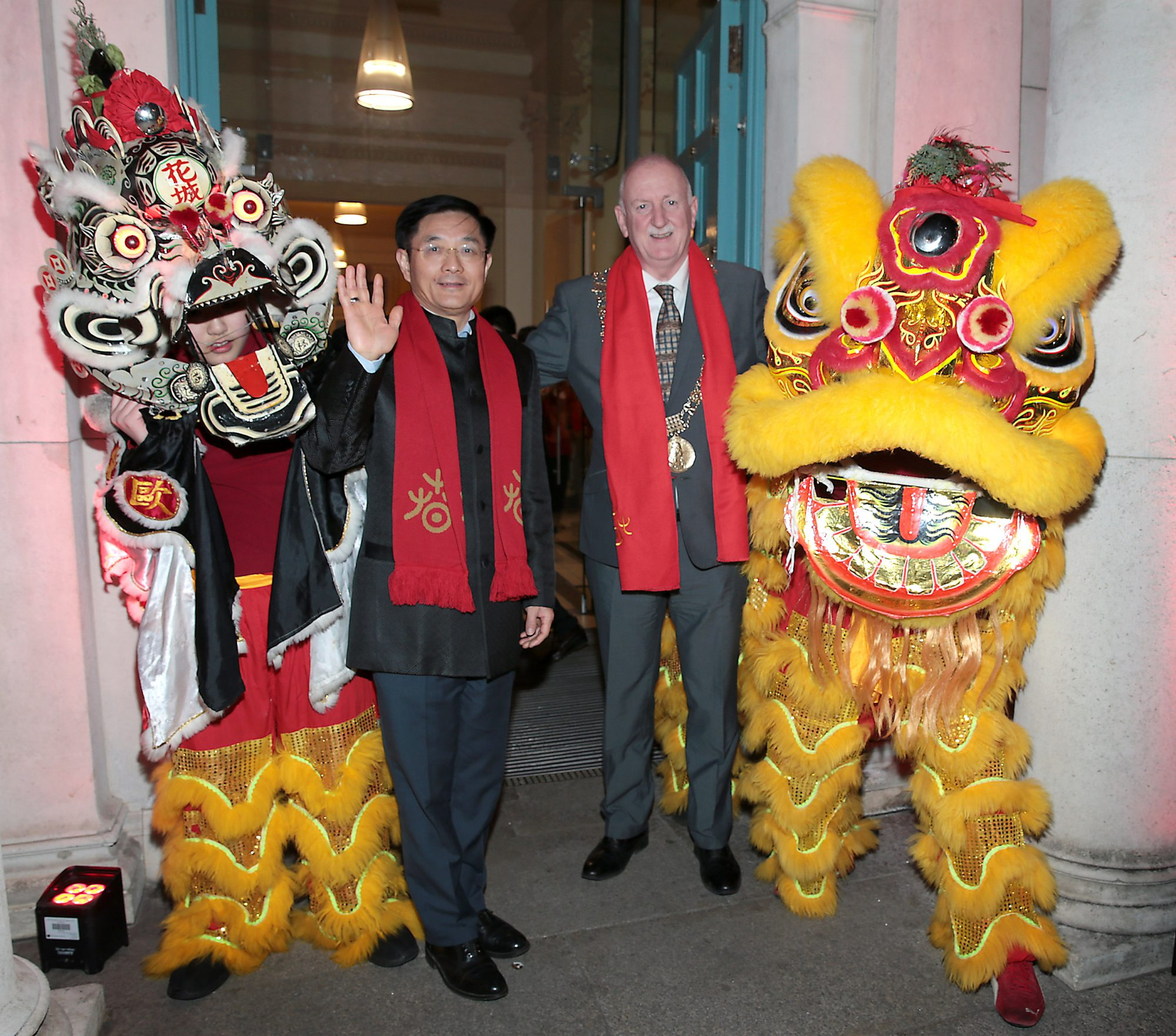 H.E. Dr. Yue Xiaoyong, Chinese Ambassador to Ireland  and Lord Mayor of Dublin Nial Ring pictured at the official opening event of Dublin Chinese New Year Festival 2019 at The Hugh Lane Gallery sponsored by Kildare Village. Dublin Chinese New Year Festival runs until 17th February for more see www.dublinchinesenewyear.com   DCNYF celebrates the Year of the Pig this year, completing a full cycle of the zodiac for the festival, which has grown to become one of the biggest celebrations of Chinese New Year in Europe. A Dublin City Council initiative, the festival aims to develop and showcase the best of Sino-Hibernian culture in Ireland and is jam-packed with many ticketed and free events for everyone to enjoy.  Picture Brian McEvoy