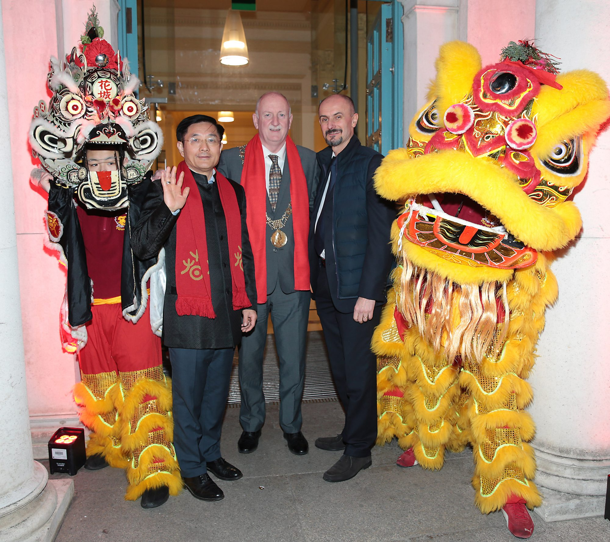 H.E. Dr. Yue Xiaoyong, Chinese Ambassador to Ireland , Lord Mayor of Dublin Nial Ring  and René Frion -Kildare Village  pictured at the official opening event of Dublin Chinese New Year Festival 2019 at The Hugh Lane Gallery sponsored by Kildare Village. Dublin Chinese New Year Festival runs until 17th February for more see www.dublinchinesenewyear.com   DCNYF celebrates the Year of the Pig this year, completing a full cycle of the zodiac for the festival, which has grown to become one of the biggest celebrations of Chinese New Year in Europe. A Dublin City Council initiative, the festival aims to develop and showcase the best of Sino-Hibernian culture in Ireland and is jam-packed with many ticketed and free events for everyone to enjoy.  Picture Brian McEvoy