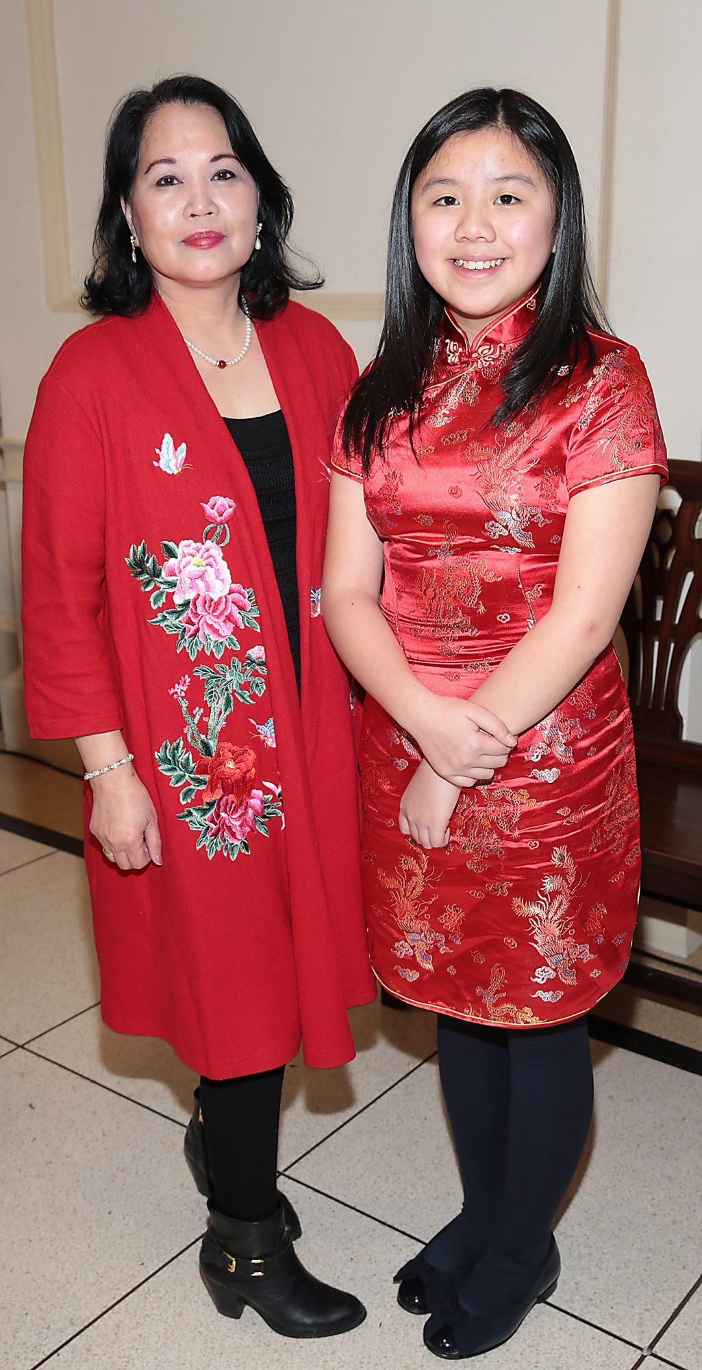 Mei Tsang and Josephine Choo pictured at the official opening event of Dublin Chinese New Year Festival 2019 at The Hugh Lane Gallery sponsored by Kildare Village. Dublin Chinese New Year Festival runs until 17th February for more see www.dublinchinesenewyear.com   Pic Brian McEvoy