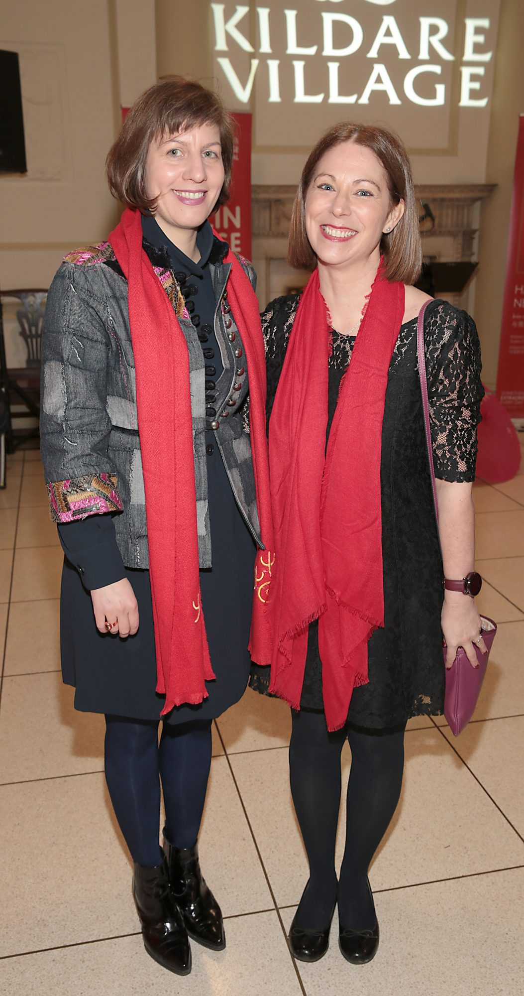 Aimée van Wylick and Giselle Mansfield pictured at the official opening event of Dublin Chinese New Year Festival 2019 at The Hugh Lane Gallery sponsored by Kildare Village. Dublin Chinese New Year Festival runs until 17th February for more see www.dublinchinesenewyear.com   Pic Brian McEvoy