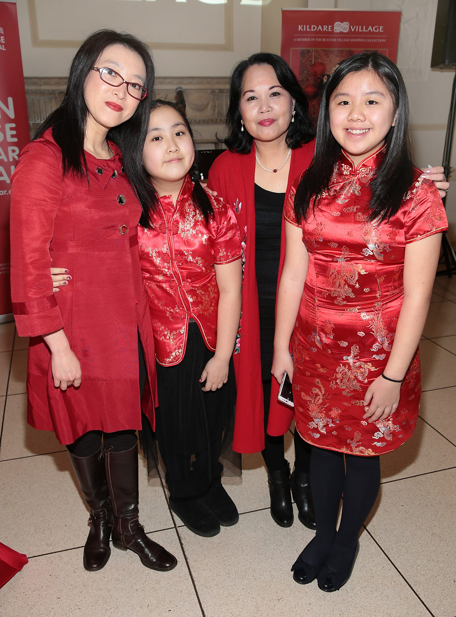 Yue Yu , Linxi Yu ,Mei Tsang and Josephine Choo pictured at the official opening event of Dublin Chinese New Year Festival 2019 at The Hugh Lane Gallery sponsored by Kildare Village. Dublin Chinese New Year Festival runs until 17th February for more see www.dublinchinesenewyear.com   Pic Brian McEvoy