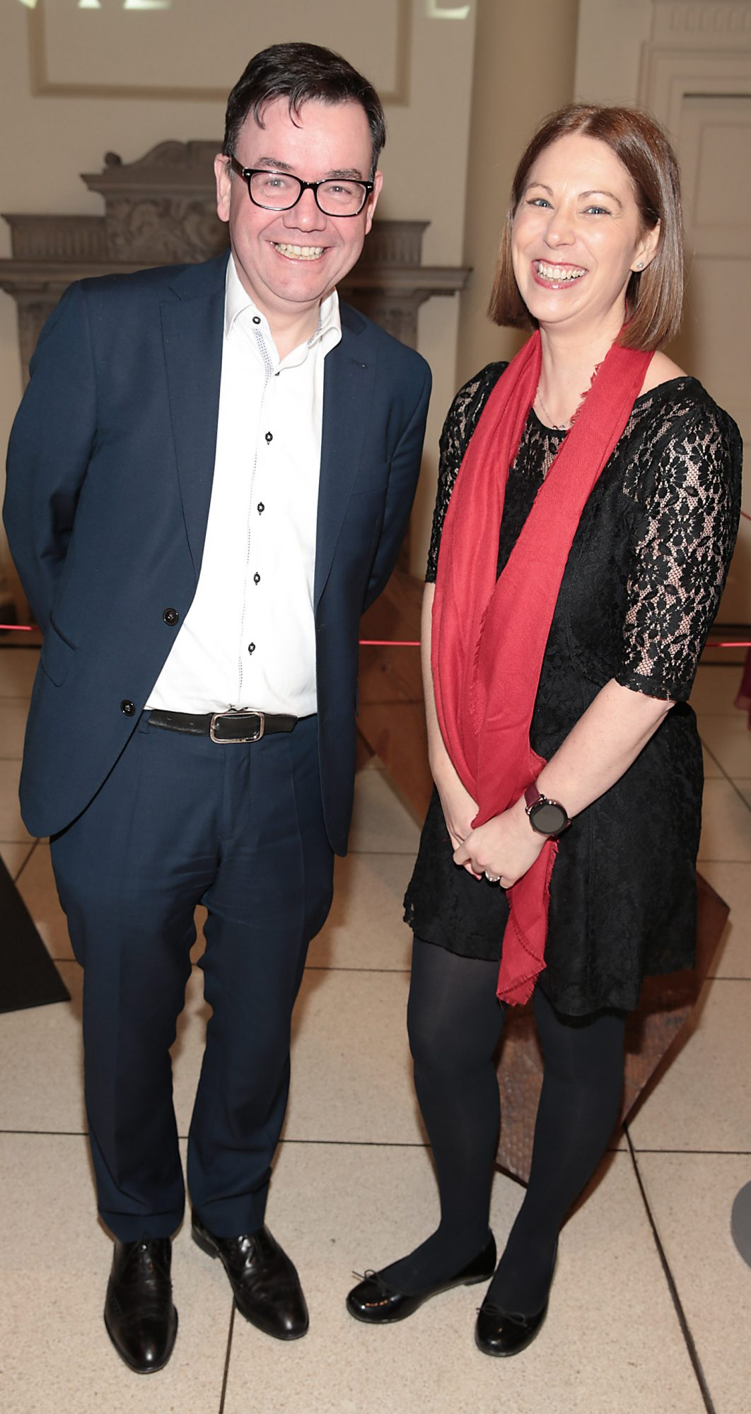 Peter Gallogly and Giselle Mansfield pictured at the official opening event of Dublin Chinese New Year Festival 2019 at The Hugh Lane Gallery sponsored by Kildare Village. Dublin Chinese New Year Festival runs until 17th February for more see www.dublinchinesenewyear.com   Pic Brian McEvoy