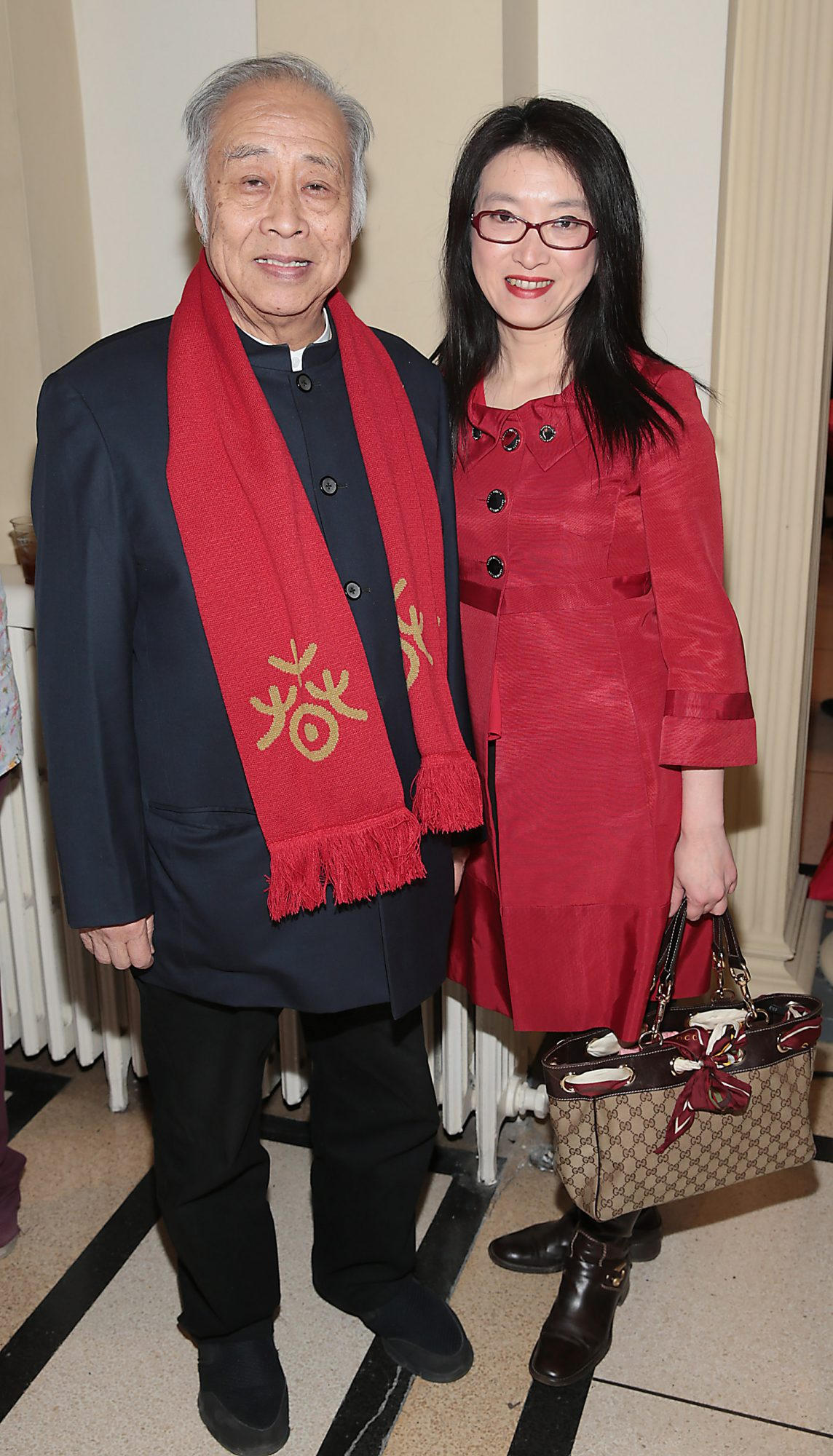Howard Pau and Yue Yu pictured at the official opening event of Dublin Chinese New Year Festival 2019 at The Hugh Lane Gallery sponsored by Kildare Village. Dublin Chinese New Year Festival runs until 17th February for more see www.dublinchinesenewyear.com   Pic Brian McEvoy