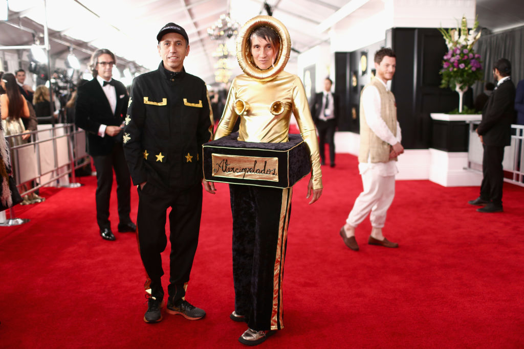LOS ANGELES, CA - FEBRUARY 10:  Andrea Echeverry from the Colombian rock band Aterciopelados attends the 61st Annual GRAMMY Awards at Staples Center on February 10, 2019 in Los Angeles, California.  (Photo by Rich Fury/Getty Images for The Recording Academy)