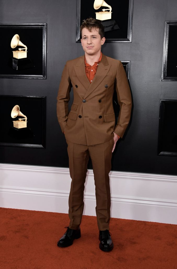 Singer Charlie Puth arrives for the 61st Annual Grammy Awards on February 10, 2019, in Los Angeles. (Photo by VALERIE MACON / AFP)        (Photo credit should read VALERIE MACON/AFP/Getty Images)