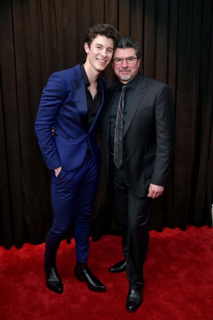 LOS ANGELES, CA - FEBRUARY 10:  (L-R) Shawn Mendes and Manuel Mendes attends the 61st Annual GRAMMY Awards at Staples Center on February 10, 2019 in Los Angeles, California.  (Photo by Neilson Barnard/Getty Images for The Recording Academy)