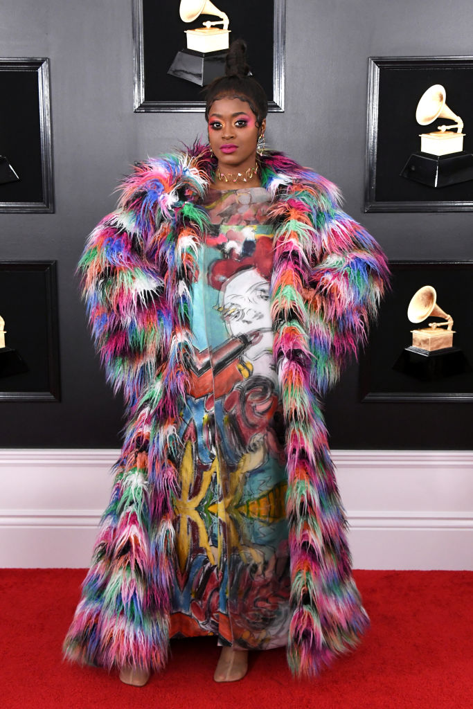 LOS ANGELES, CALIFORNIA - FEBRUARY 10: Tierra Whack attends the 61st Annual GRAMMY Awards at Staples Center on February 10, 2019 in Los Angeles, California. (Photo by Jon Kopaloff/Getty Images)