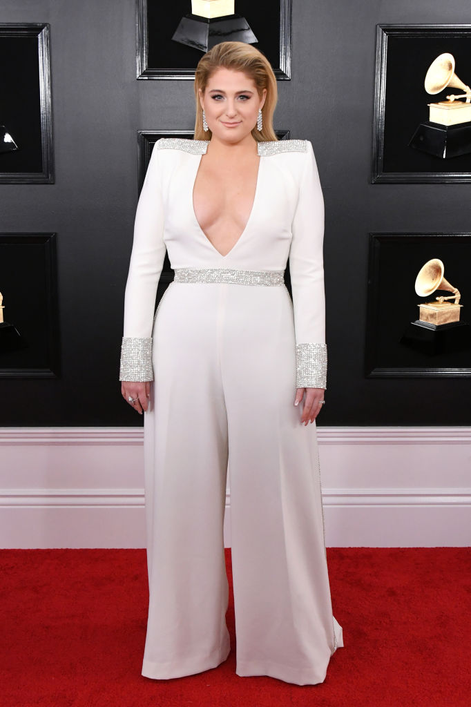 LOS ANGELES, CALIFORNIA - FEBRUARY 10: Meghan Trainor attends the 61st Annual GRAMMY Awards at Staples Center on February 10, 2019 in Los Angeles, California. (Photo by Jon Kopaloff/Getty Images)