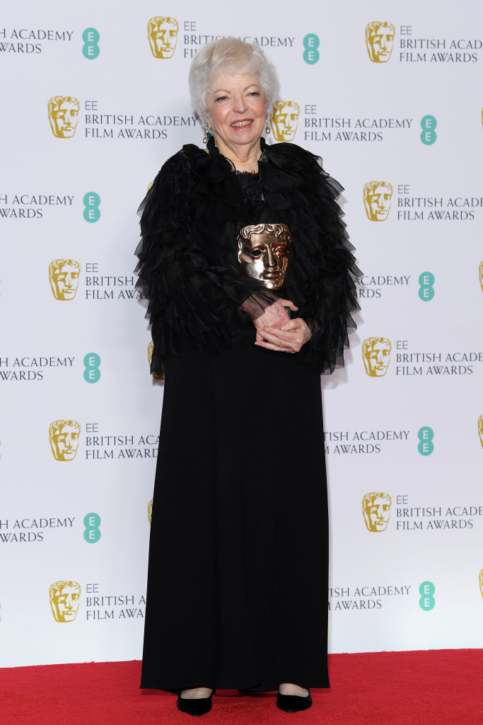 LONDON, ENGLAND - FEBRUARY 10:  Winner of the BAFTA Fellowship award, Thelma Schoonmaker poses in the press room during the EE British Academy Film Awards at Royal Albert Hall on February 10, 2019 in London, England. (Photo by Pascal Le Segretain/Getty Images)