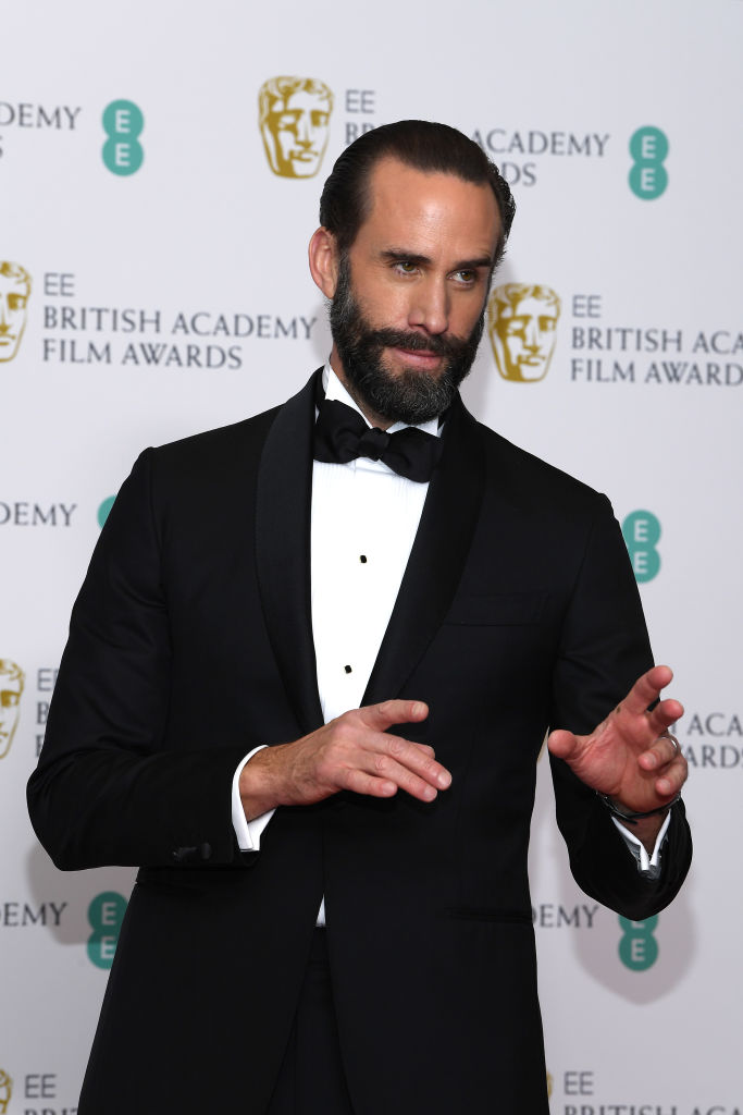 LONDON, ENGLAND - FEBRUARY 10:  Joseph Fiennes poses in the press room during the EE British Academy Film Awards at Royal Albert Hall on February 10, 2019 in London, England. (Photo by Pascal Le Segretain/Getty Images)