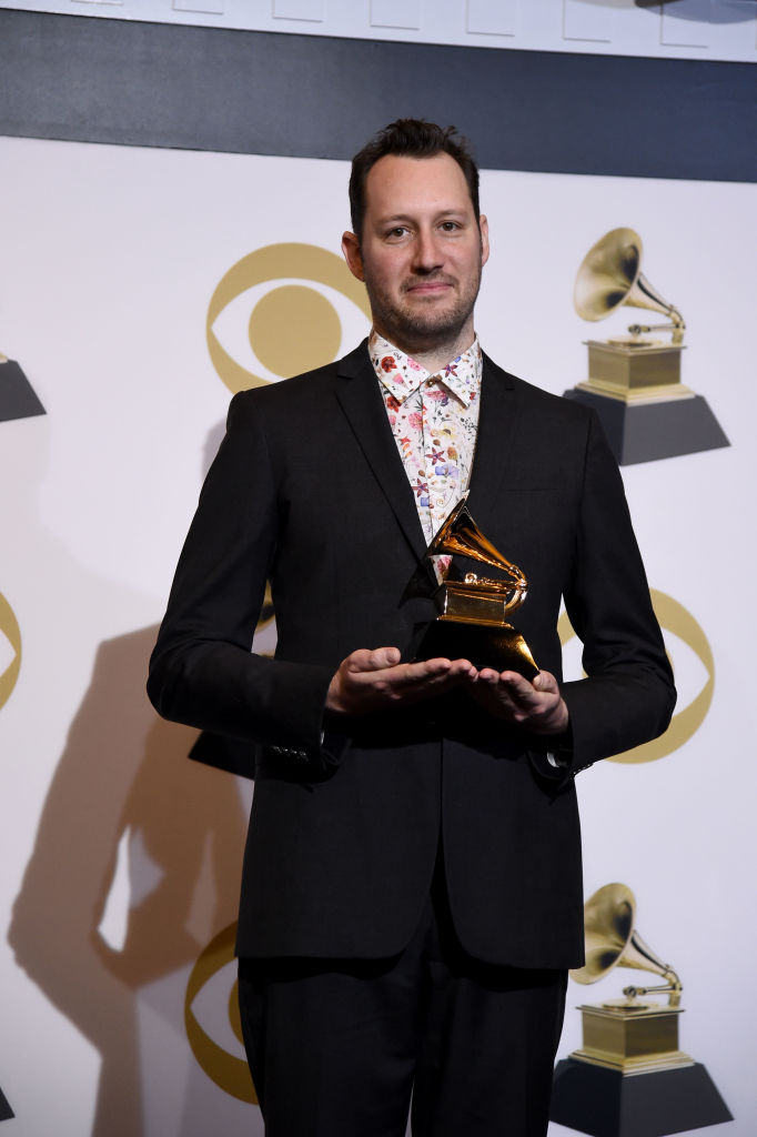 LOS ANGELES, CALIFORNIA - FEBRUARY 10: David Greenbaum, winner of Best Engineered Album, Non-Classical for 'Colors', poses in the press room during the 61st Annual GRAMMY Awards at Staples Center on February 10, 2019 in Los Angeles, California. (Photo by Amanda Edwards/Getty Images)