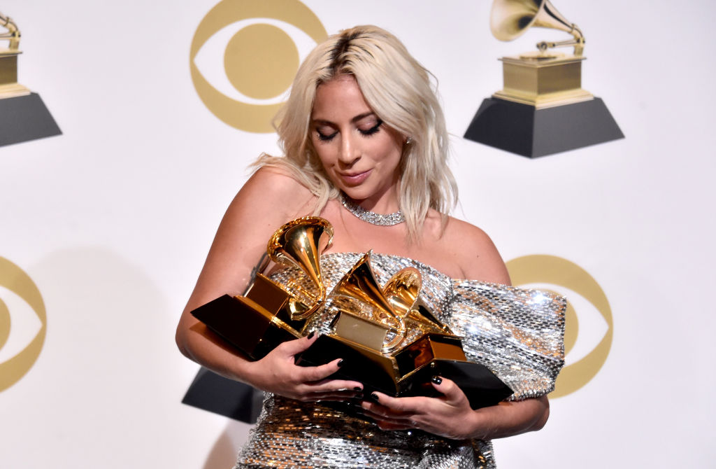 LOS ANGELES, CA - FEBRUARY 10:  Lady Gaga poses in the press room during the 61st Annual GRAMMY Awards at Staples Center on February 10, 2019 in Los Angeles, California.  (Photo by Alberto E. Rodriguez/Getty Images for The Recording Academy)